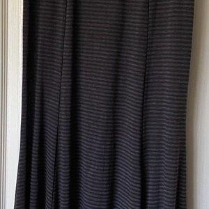 Lapis Black/Charcoal Stripe Skirt